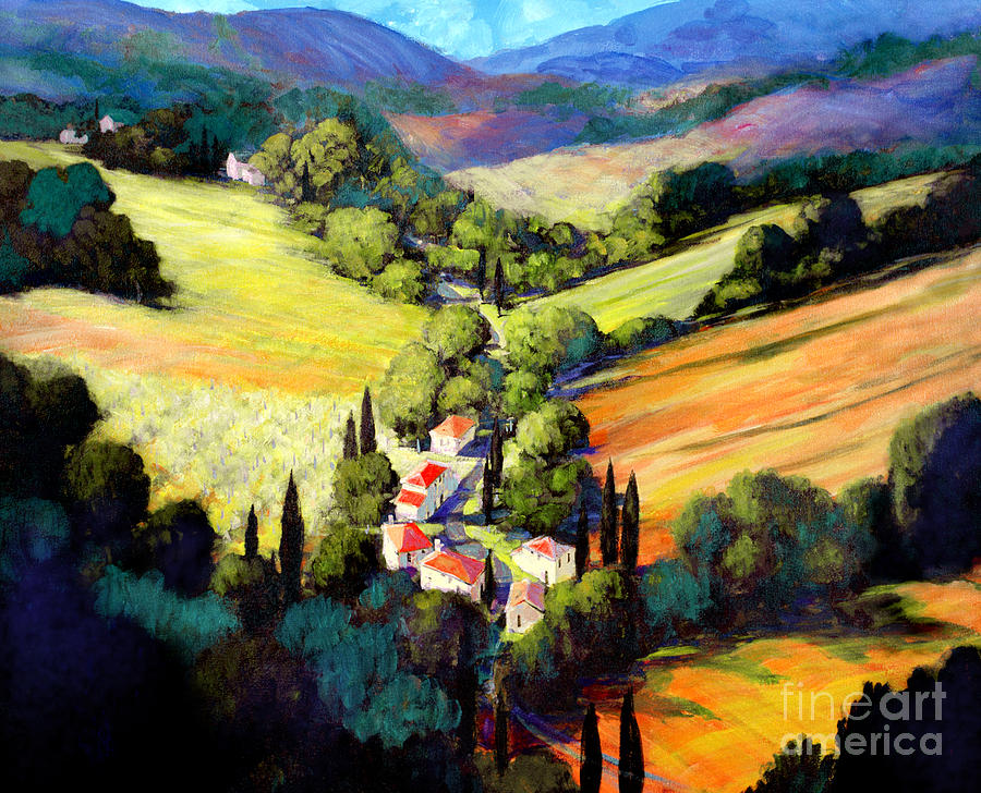 Tuscan Valley Painting - Tuscany by Michael Swanson