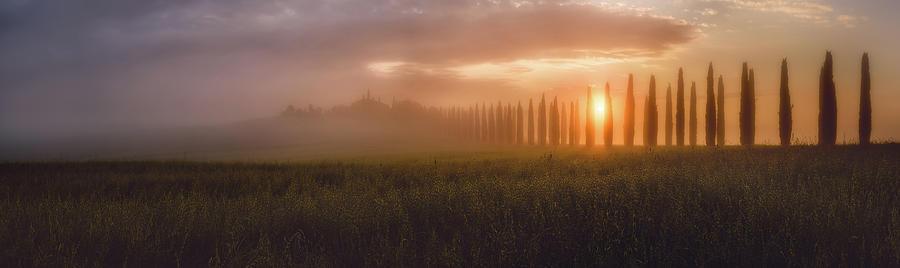 Tuscany Photograph - Tuscany Sunrising by Javier De La