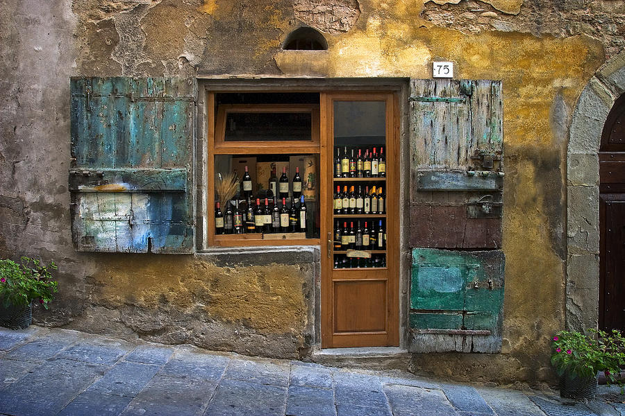 Italy Photograph - Tuscany Wine shop by Al Hurley