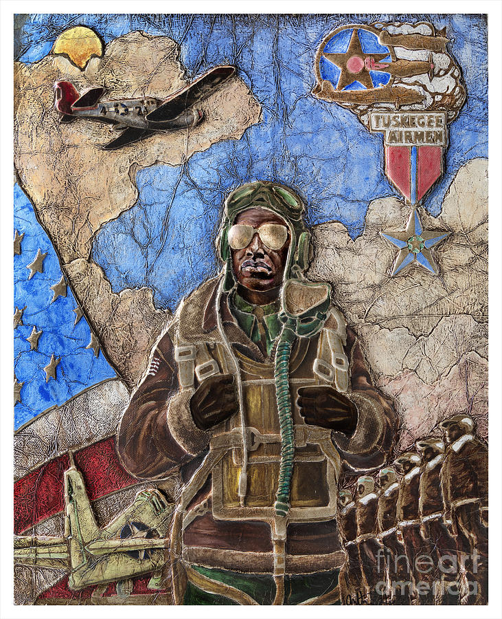 Tuskegee Airman Painting - Tuskegee Airman by Anthony High