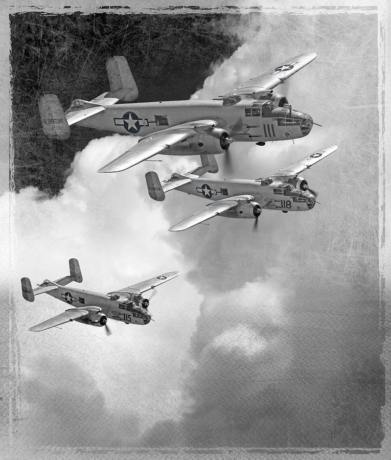 B-25 Photograph - Tuskegee Airman...616th Bombardment Group by Larry McManus