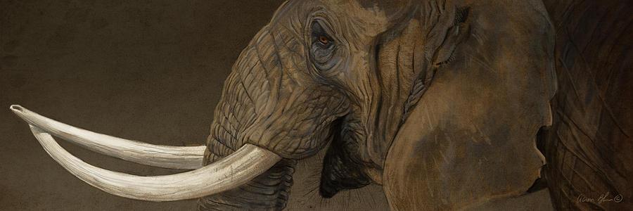 Elephant Digital Art - Tusker by Aaron Blaise