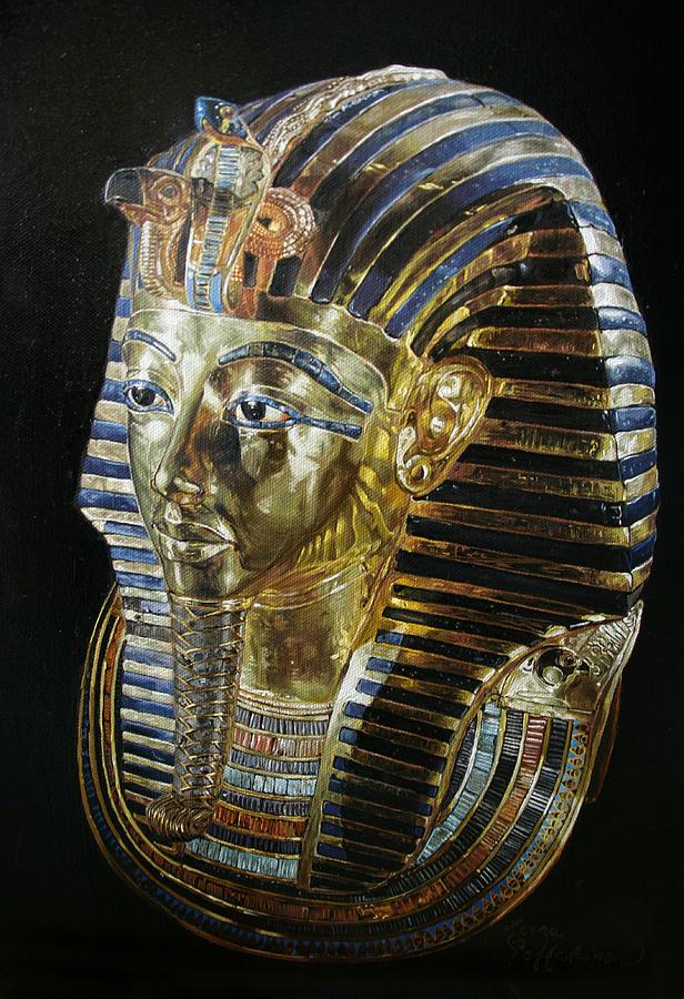 Tutankhamon Painting - Tutankamons Golden Mask by Leena Pekkalainen