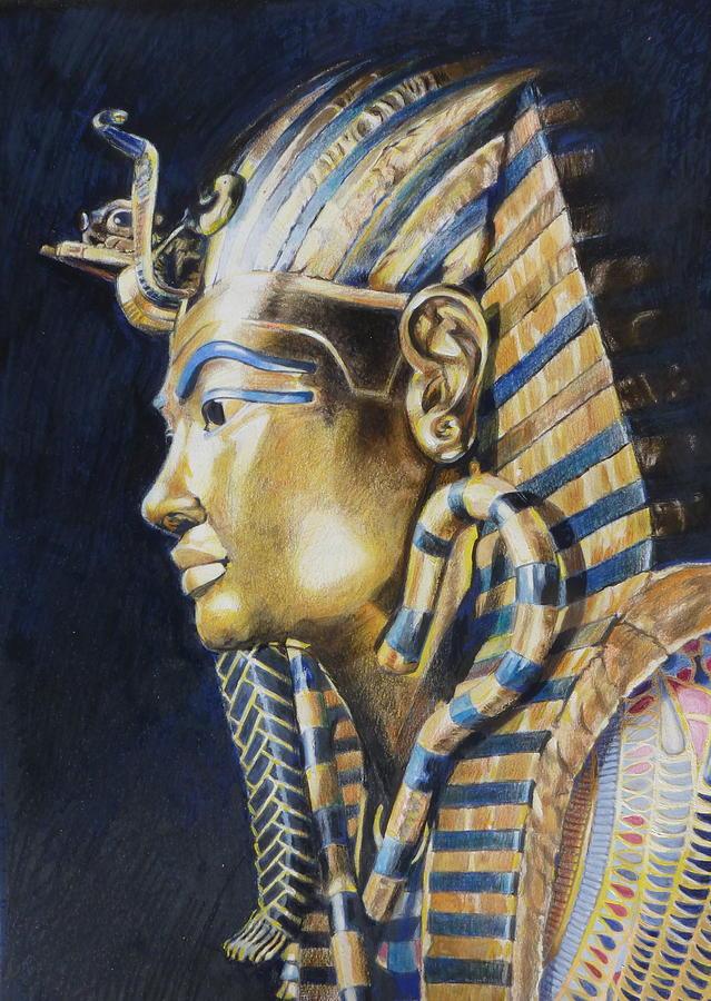 Mask Mixed Media - Tutankhamon by Constance Drescher