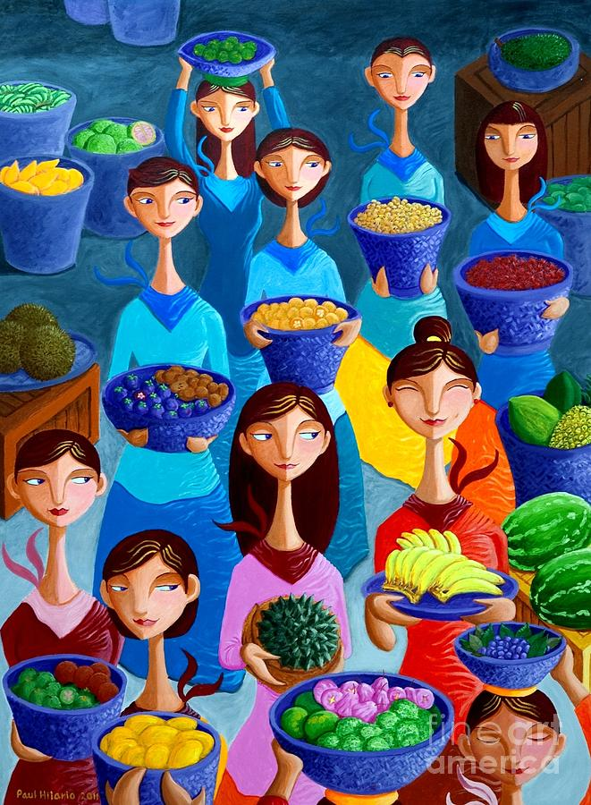 Fruits Painting - Tutti Frutti by Paul Hilario