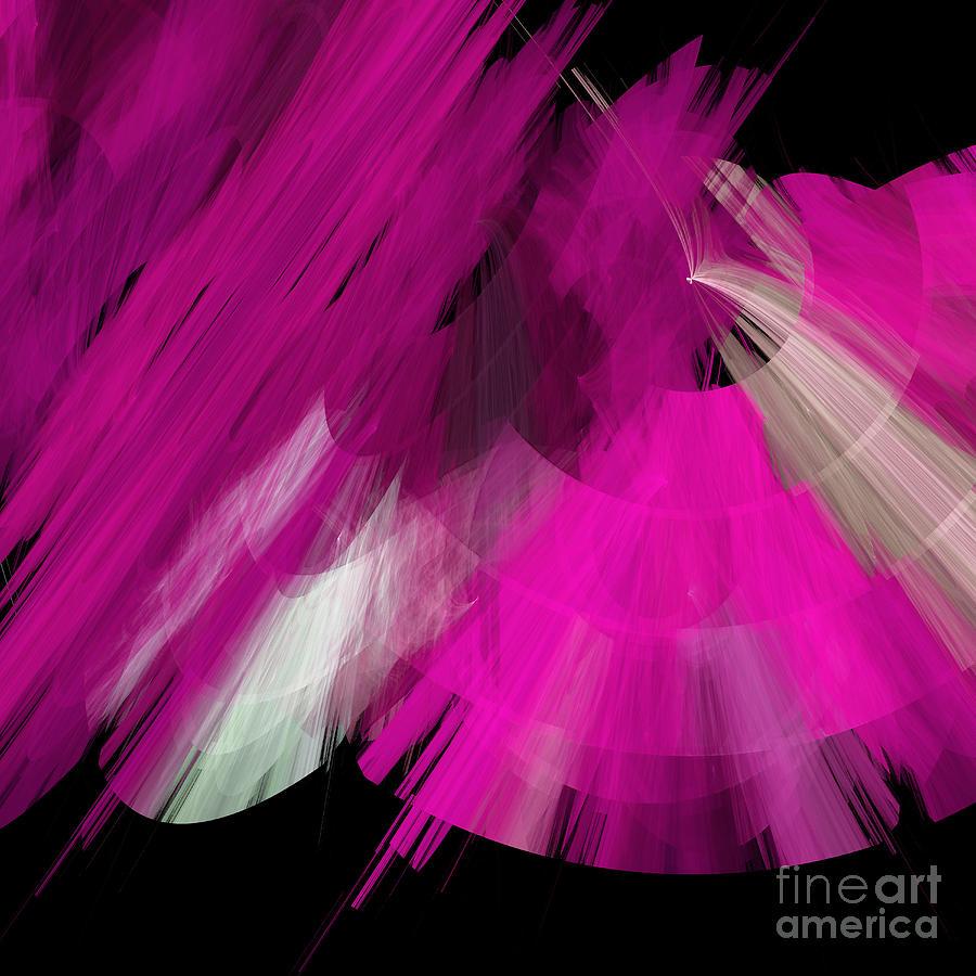 Ballerina Digital Art - Tutu Stage Left Abstract Fuchsia by Andee Design
