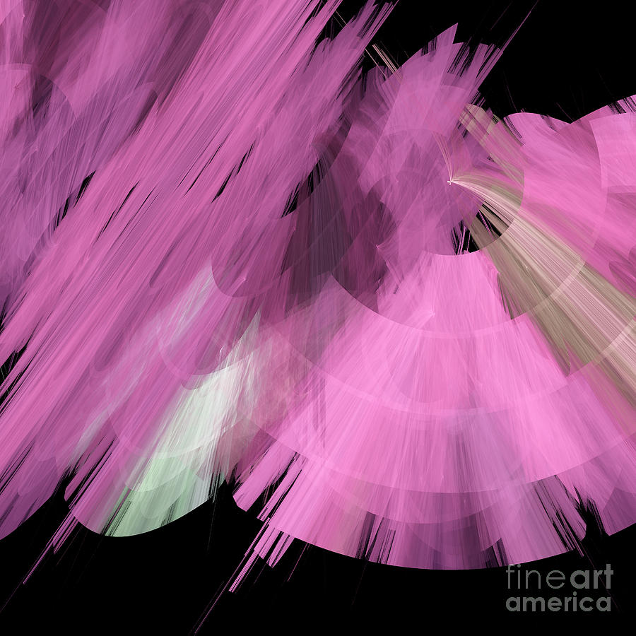 Ballerina Digital Art - Tutu Stage Left Abstract Pink by Andee Design