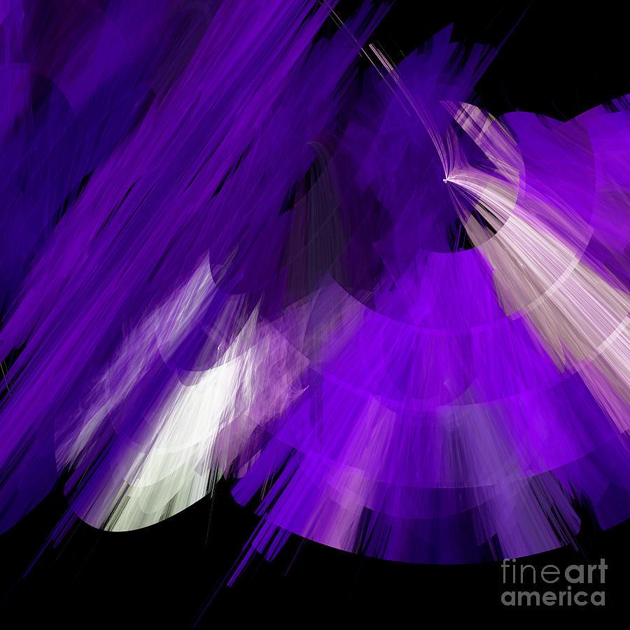Ballerina Digital Art - Tutu Stage Left Abstract Purple by Andee Design