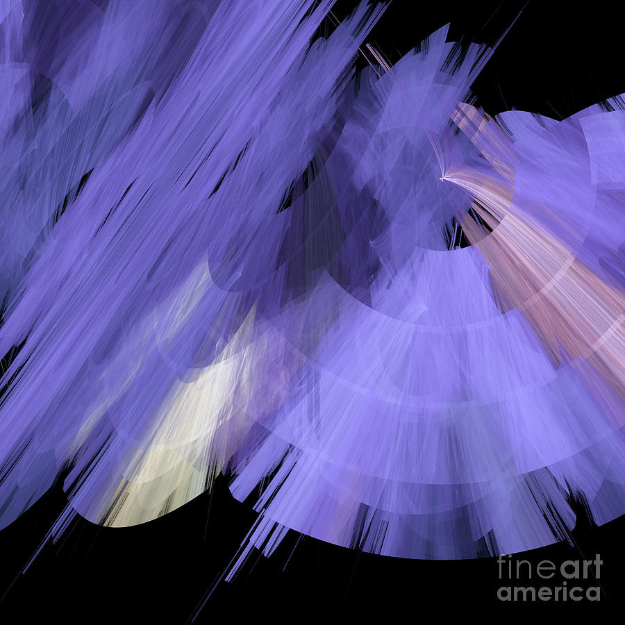 Ballerina Digital Art - Tutu Stage Left Periwinkle Abstract by Andee Design