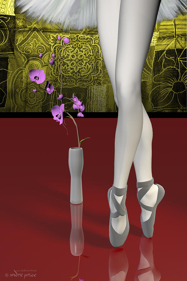 Tutu Digital Art - Tutu To Toe Shoes - Red by Andre Price