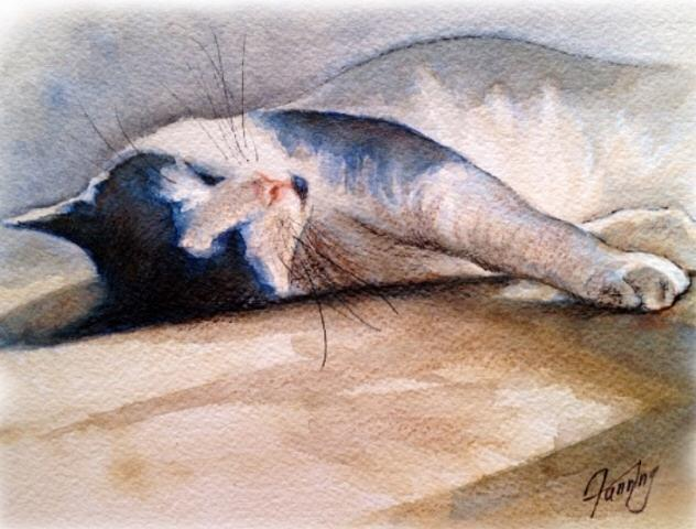 Easy Like Sunday Morning Painting - Easy Like Sunday Morning by Mary Fanning