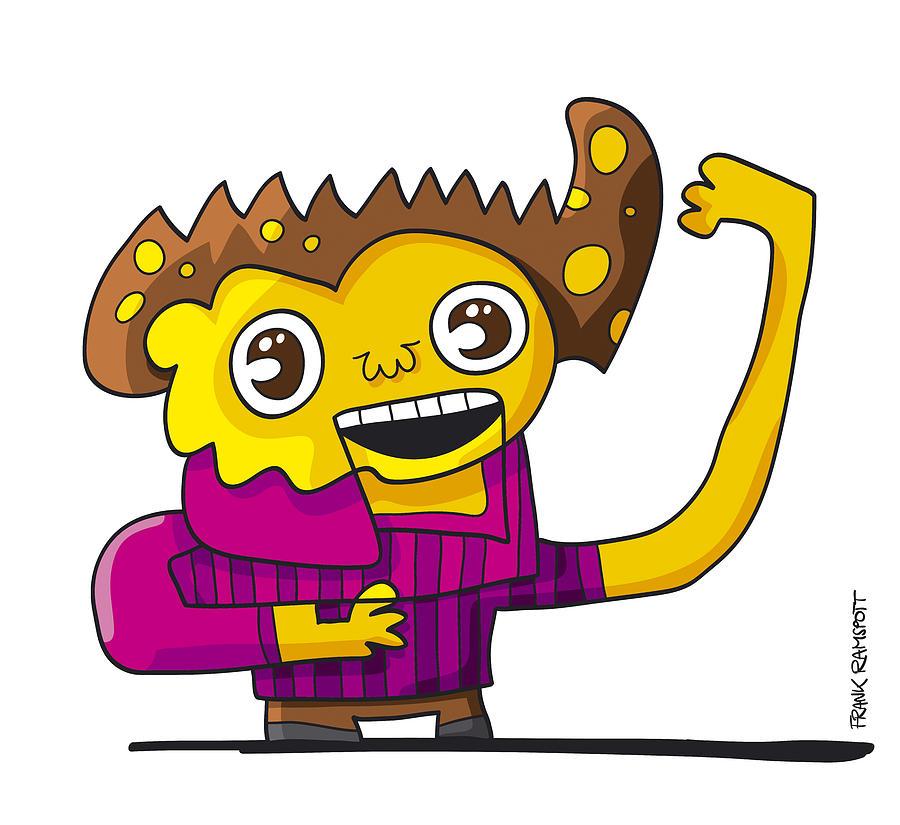 Tv Show Presenter Doodle Character by Frank Ramspott