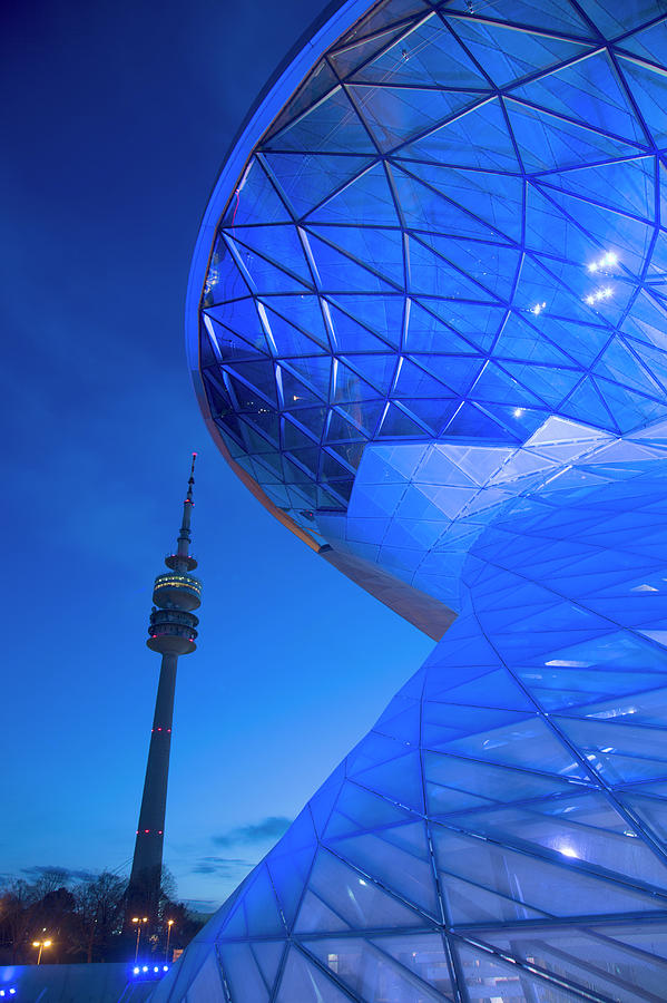 Tv Tower And Modern Building Photograph by Grant Faint