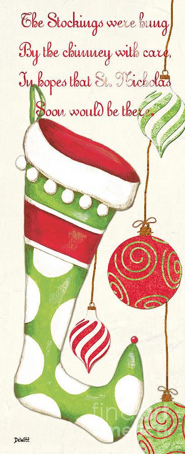 Christmas Painting - Twas The Night... by Debbie DeWitt