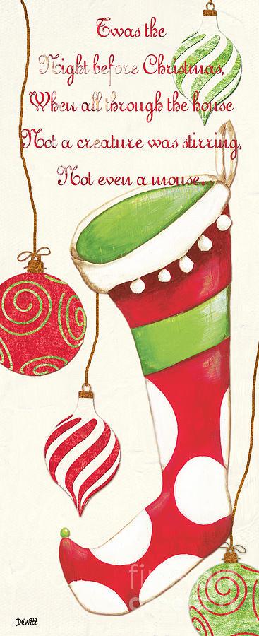 Christmas Painting - Twas The Night...2 by Debbie DeWitt