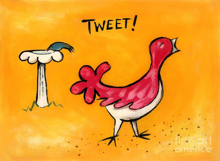 Bird Painting - Tweet by Diane Smith