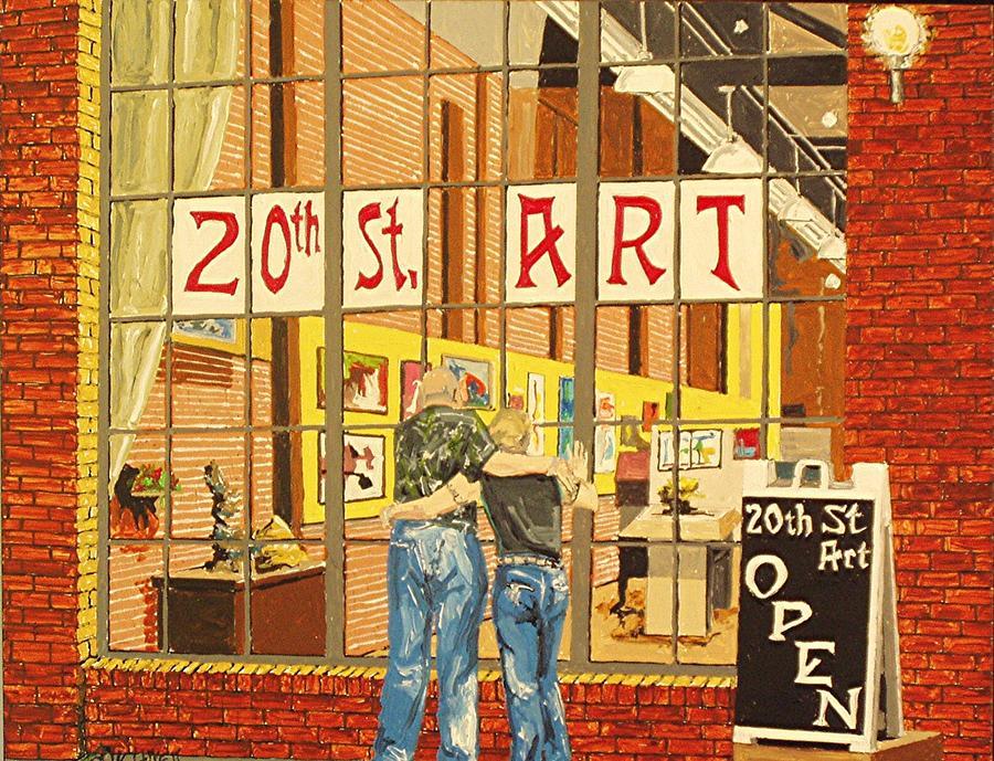 Sacramento Painting - Twentieth Street Gallery Lavender Heights Version by Paul Guyer