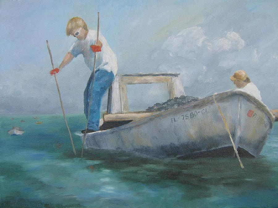 Oyster Boat Painting - Twenty One Dollars A Bushel by Susan Richardson
