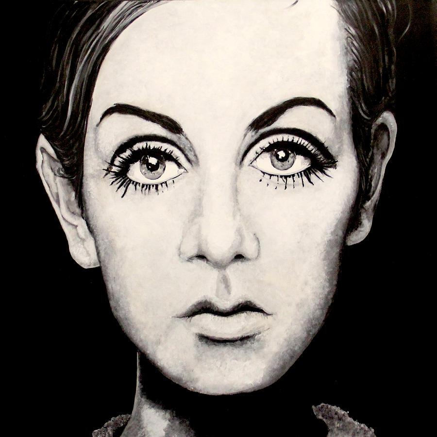 Twiggy Painting by Austin Angelozzi