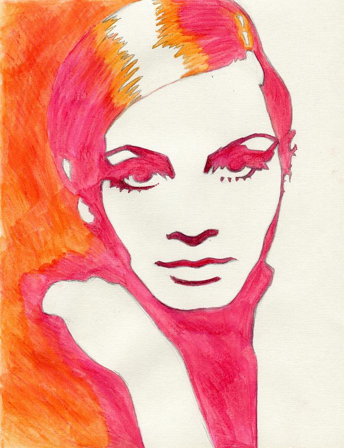 Twiggy Painting - Twiggy by Martha Cervantes