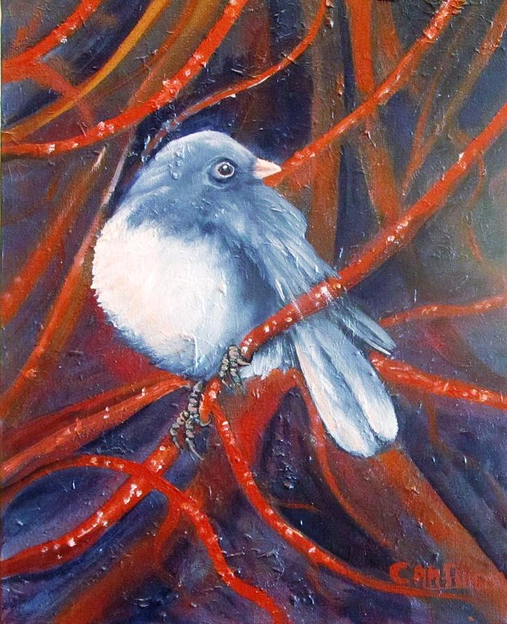 Bird Painting - Twitters And Twigs by Carol Allen Anfinsen