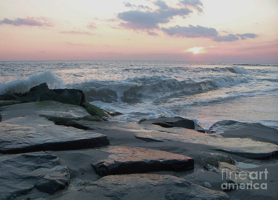 Twilight Photograph - Twilight At Cape May In October by Eric  Schiabor
