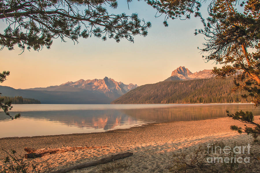Rocky Mountains Photograph - Twilight At Redfish Lake  by Robert Bales