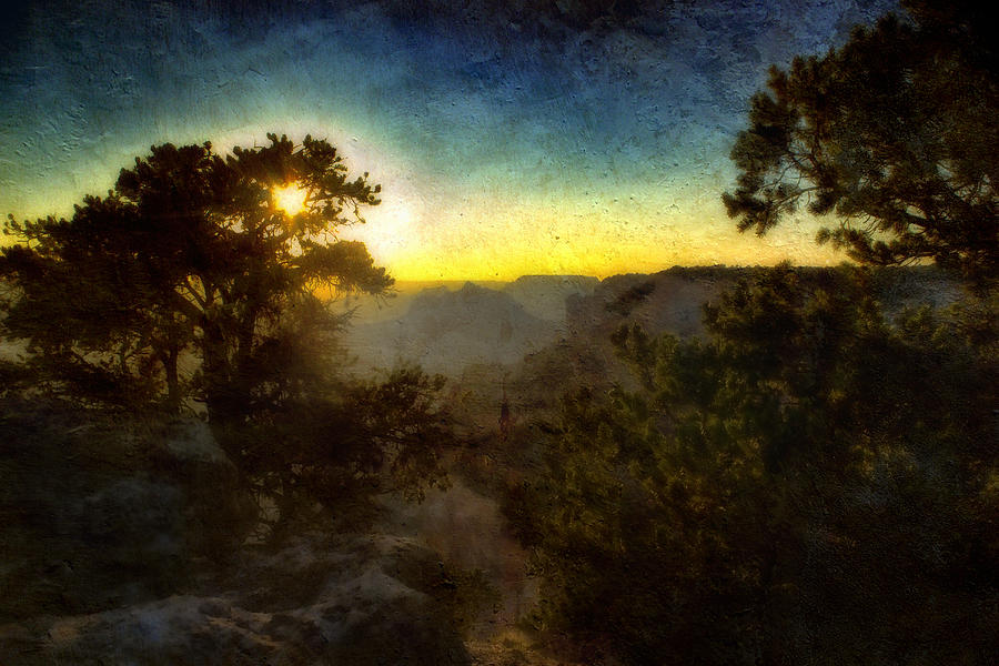 Sunset Photograph - Twilight At The Canyon by Ellen Heaverlo