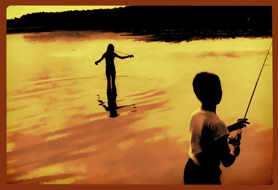 Fishing Photograph - Twilight Fishing by John Hansen
