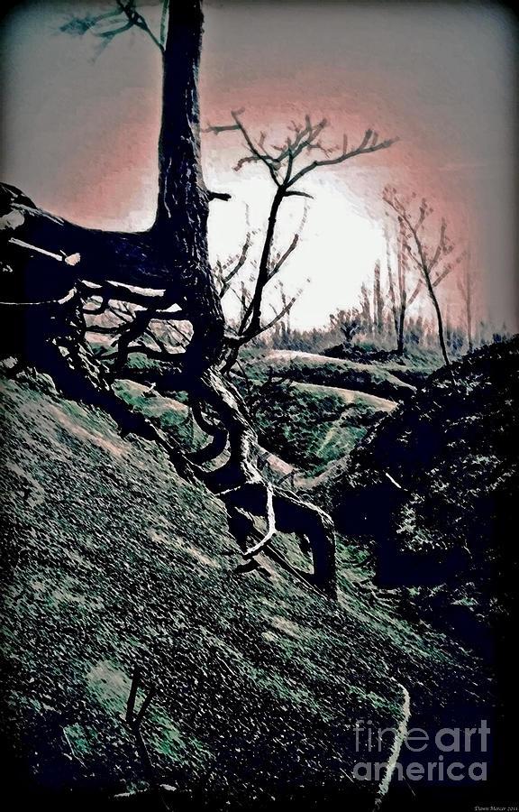 Trees Digital Art - Twilight Glow by Miss Dawn
