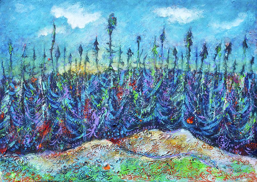 Twilight In The Taiga Painting