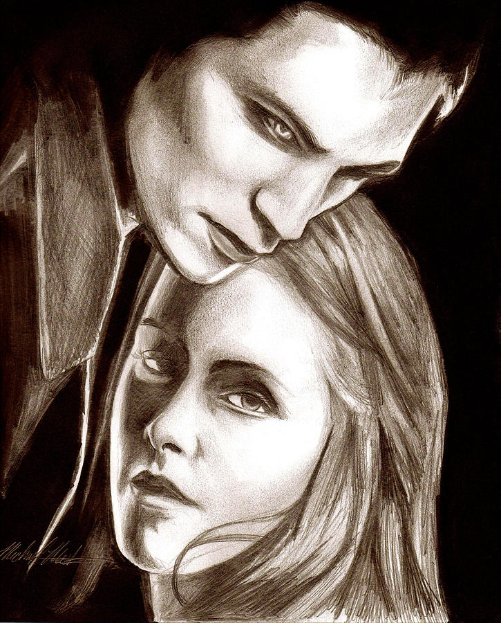 Twilight Drawing - Twilight by Michael Mestas