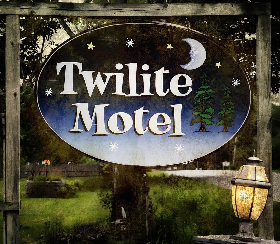 Twilight Motel Photograph