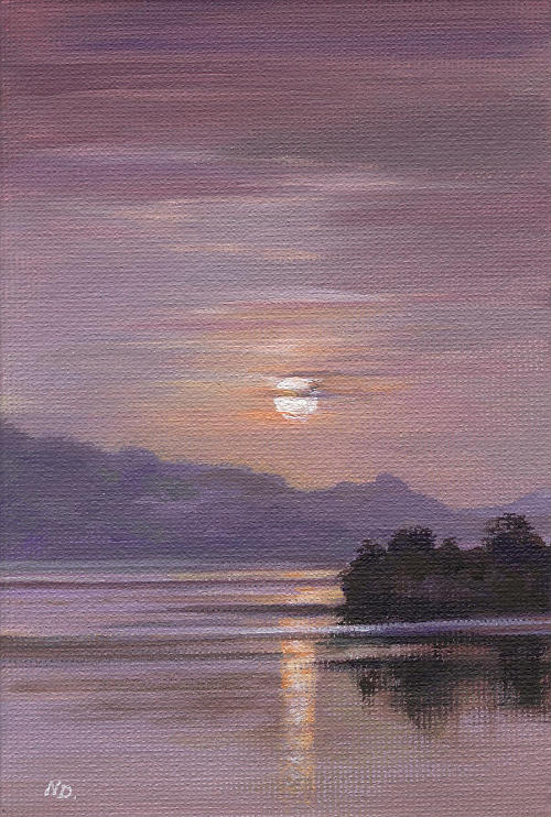 Sunset Painting - Twilight by Natasha Denger