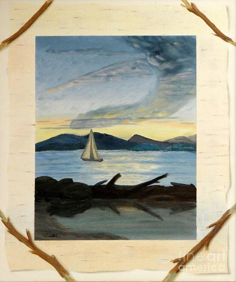Southwestern Painting - Twilight Sailing by Stephen Schaps