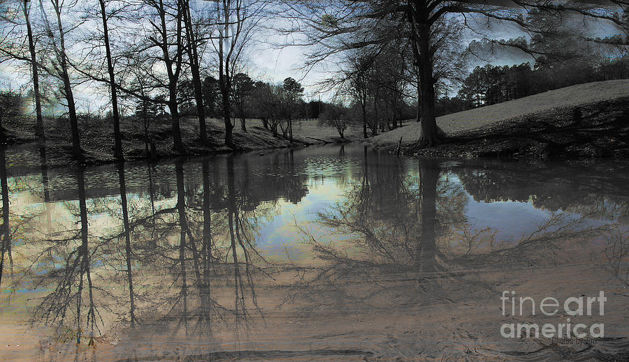 Water Reflection Photograph - Twilight Time by Jinx Farmer