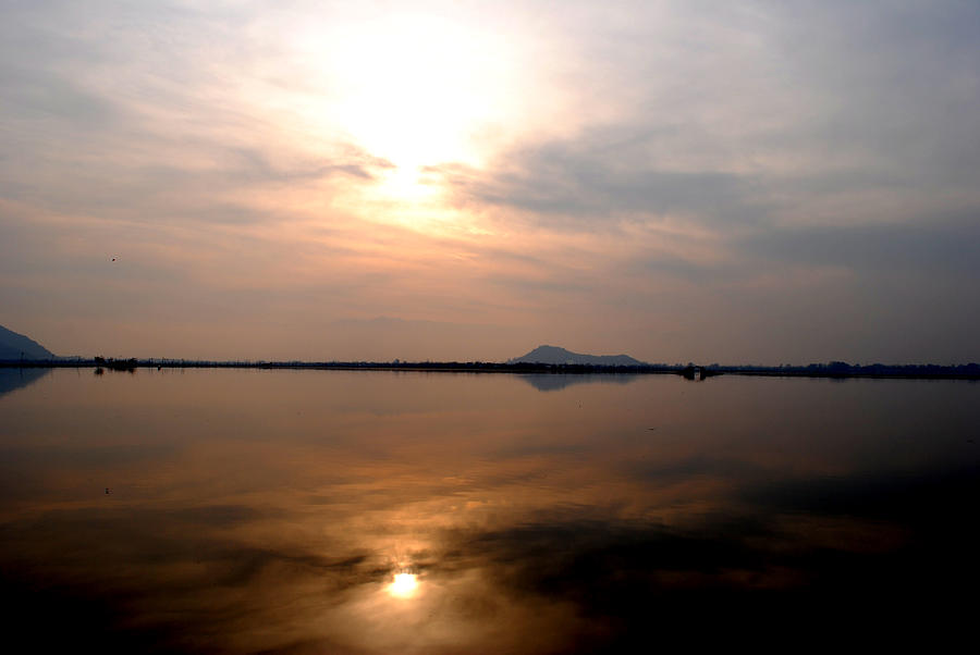 Dal Lake Photograph - Twilight View Of Dal Lake- Kashmir- India- Viators Agonism by Vijinder Singh
