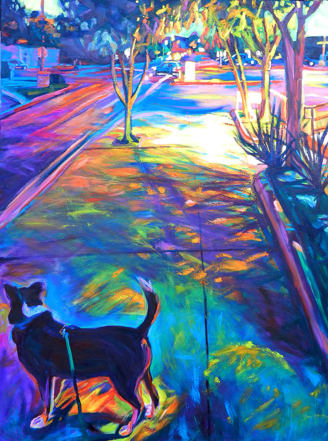 Cityscape Painting - Scout at Twilight by Bonnie Lambert