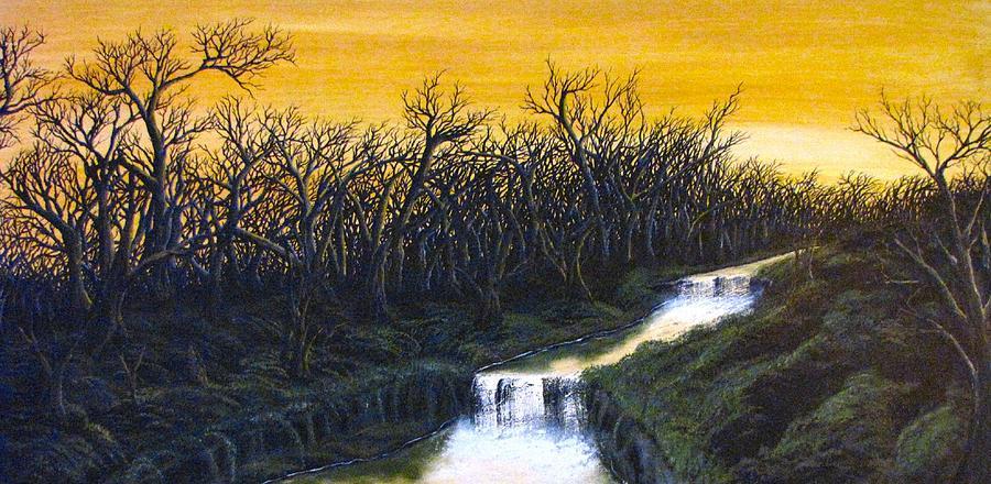 Twilights Last Breath Painting by Pheonix Creations