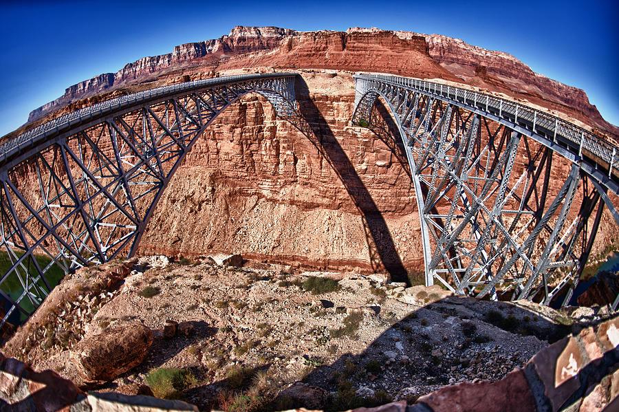 Big Photograph - Twin Bridges by Juan Carlos Diaz Parra