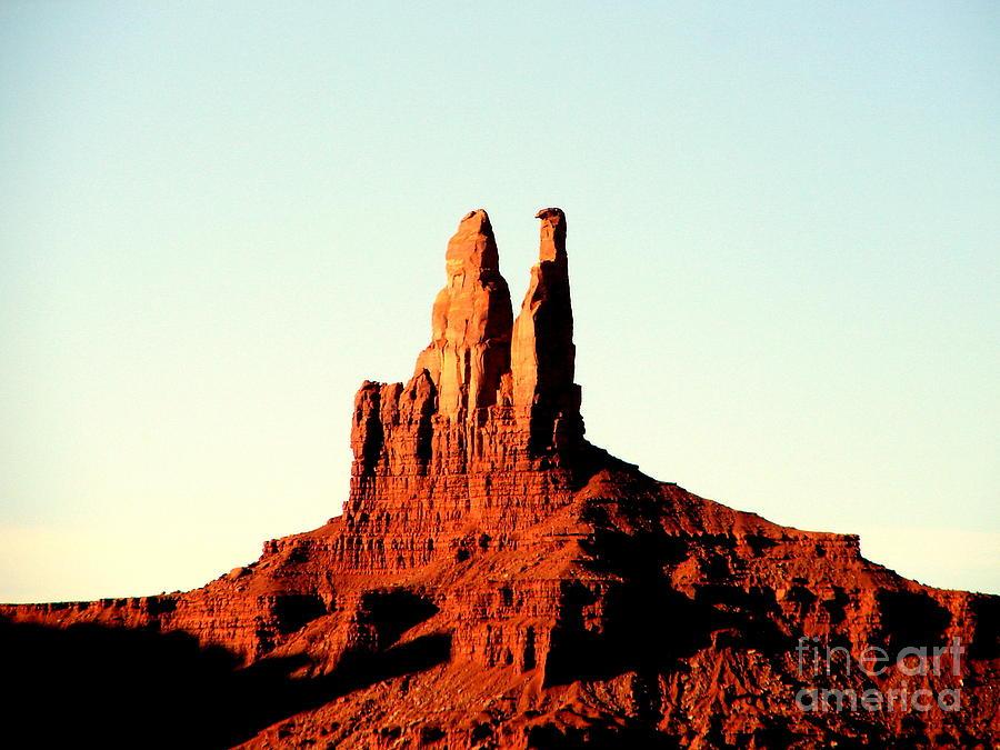 Desert Peaks Photograph - Twin Desert Peaks Usa by John Potts