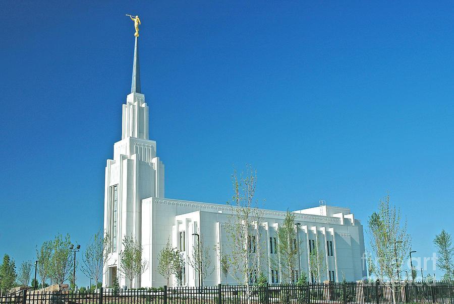 Twin Photograph - Twin Falls Idaho Lds Temple by Nick  Boren