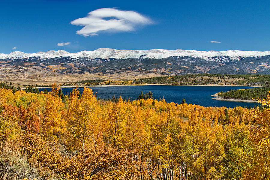 Autumn Photograph - Twin Lakes Colorado Autumn Snow Dusted Mountains by James BO  Insogna