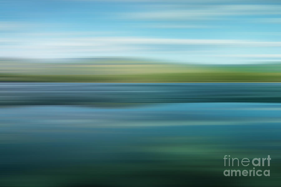 Impressionistic Photograph - Twin Lakes by Priska Wettstein
