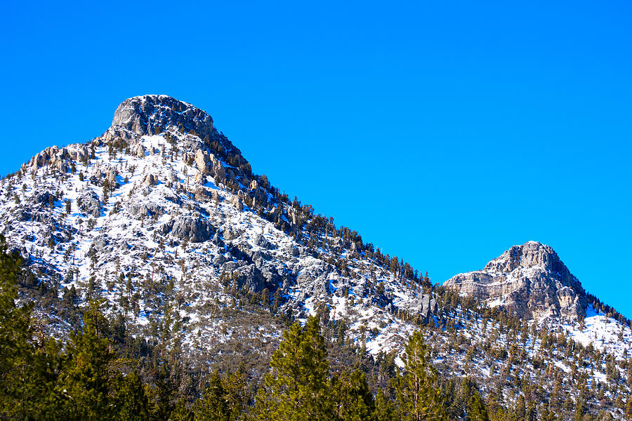 Mt. Charleston Photograph - Twin Peaks 2 by Stephen Evers