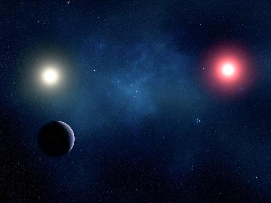 Twin Star System, Artwork Digital Art by Sciepro