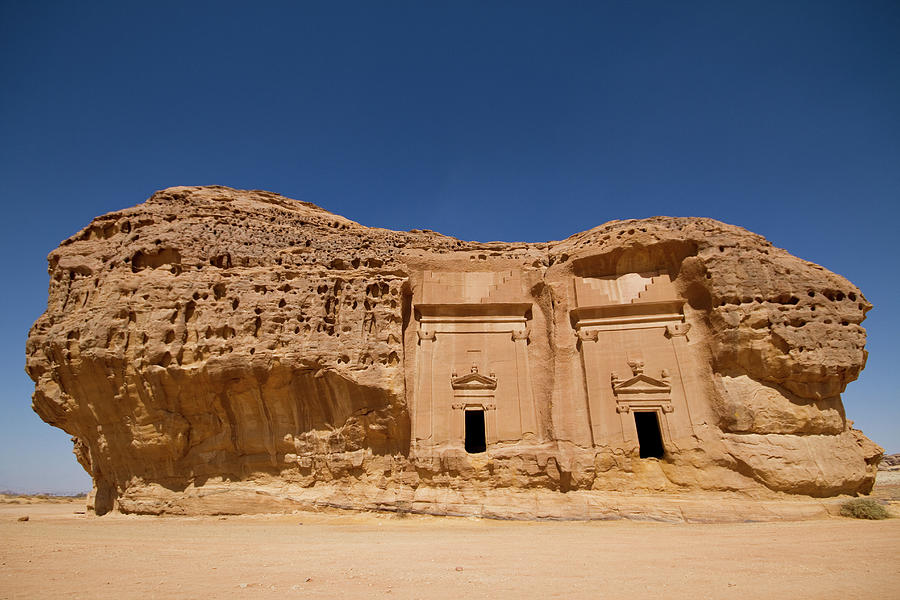 Twin Tombs At Medain Saleh Photograph by Universal Stopping Point Photography