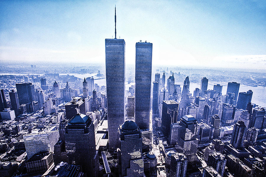 Twin Photograph - Twin Towers Year 2000 by Kim Lessel
