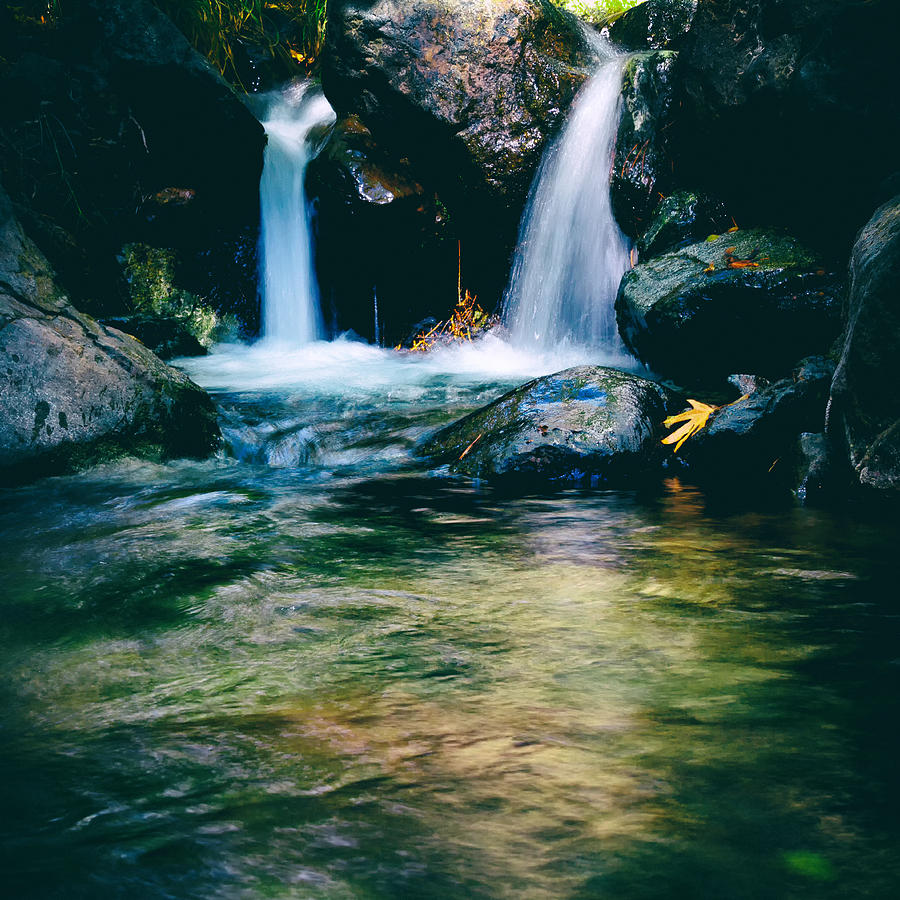 Autumn Photograph - Twin Waterfall by Stelios Kleanthous