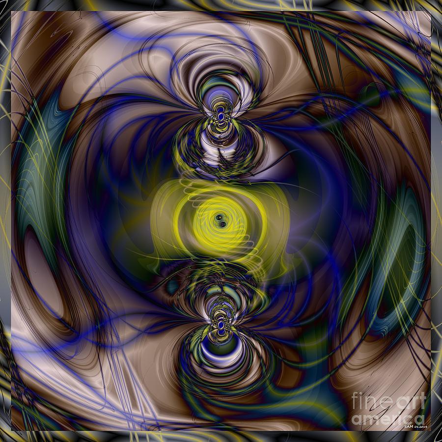 Twine Digital Art - Twine Of Light by Elizabeth McTaggart